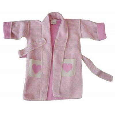 DF JUWEL Kimono 2-4 roky srdce růžová