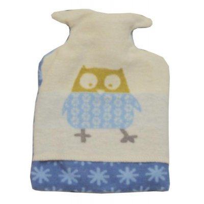 DF JUWEL zahřívací láhev sova světle modrá