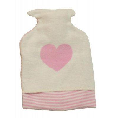 DF JUWEL zahřívací láhev srdce růžová