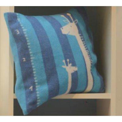 DF JUWEL povlak na polštář 40x40 cm žirafa modrá
