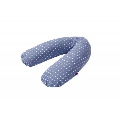 TRÄUMELAND kojící polštář elastický blau mit weißen Sternen