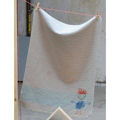 DF JUWEL deka 70x90 cm proužek modrá