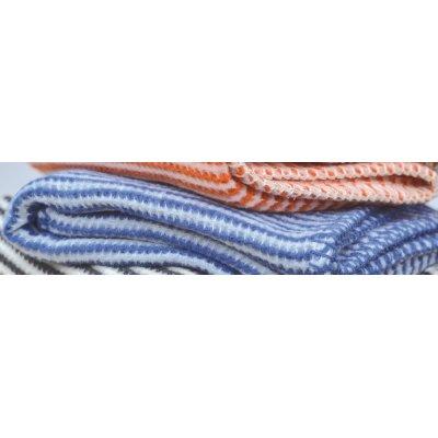 DF LIDO deka 65x90 cm proužky bílo-modrá