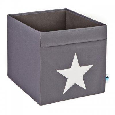 STORE IT Úložný box velký šedá s bílou hvězdou