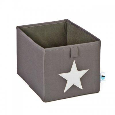 STORE IT Úložný box malý šedá s bílou hvězdou