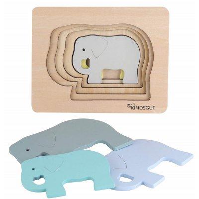 KINDSGUT Dřevěné puzzle slon