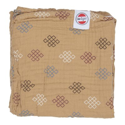 LODGER Dreamer Muslin Knot Xandu Honey 120 x 120 cm