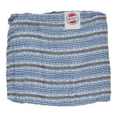 LODGER Dreamer Muslin Stripe Xandu Ocean 120 x 120 cm
