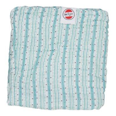 LODGER Dreamer Muslin Stripe Xandu Silt Green 120 x 120 cm
