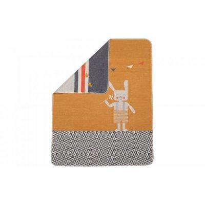 DF JUWEL Dětská deka s výšivkou Hase Goldgelb - 37898gg_001