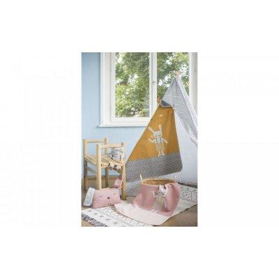 DF JUWEL Dětská deka s výšivkou Hase Goldgelb - 37898gg_002