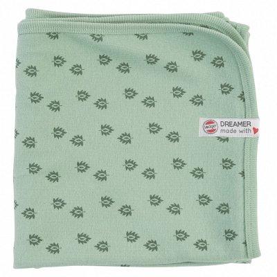 LODGER Dreamer Newborn Rib Silt Green 100 x 100 cm - 38673_002