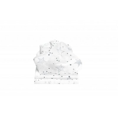 ODENWÄLDER Pleny 3ks Scribble Stars Grey 80x80 cm