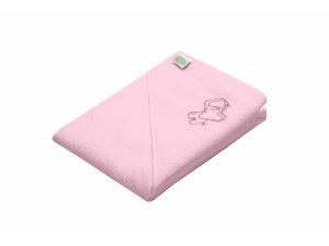 ODENWÄLDER osuška 100x100 s kapucí Elefant pastell pink